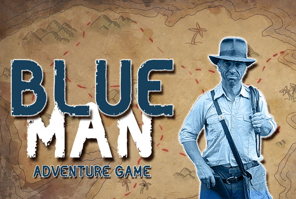 Blue Man Adventure Game