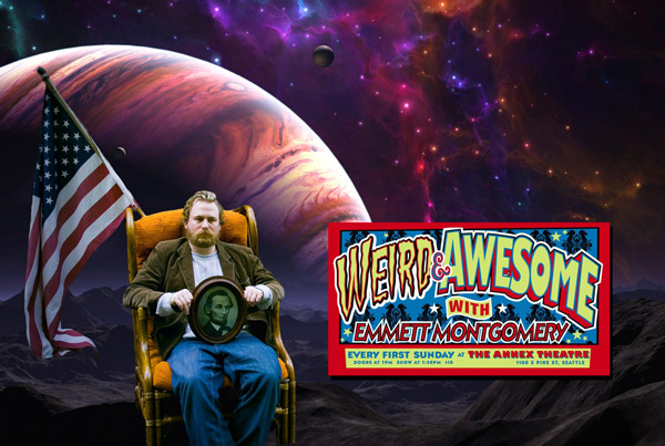 This Sunday I will be appearing on Weird And Awesome with Emmett Montgomery