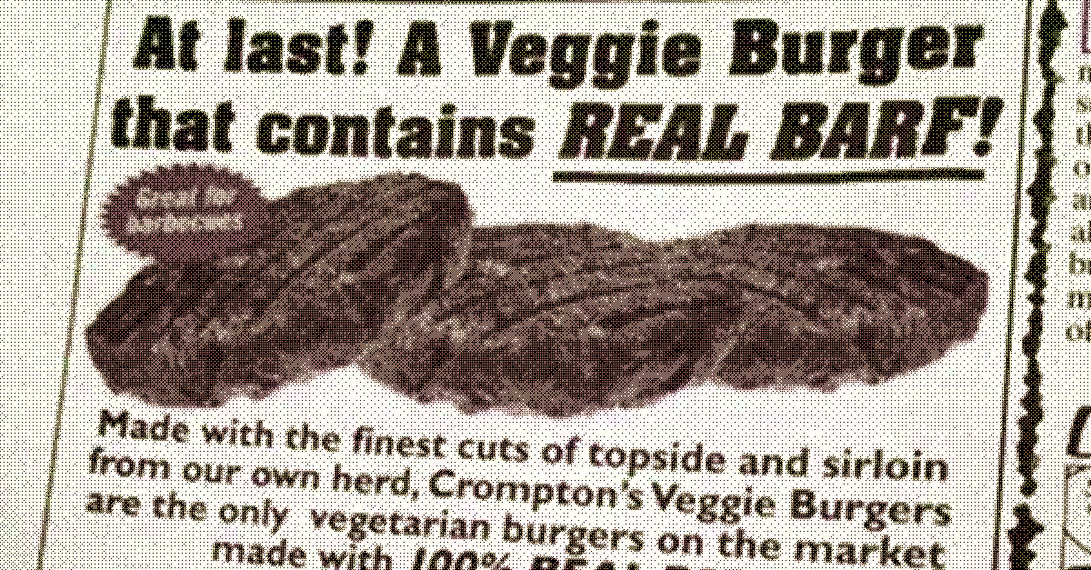 veggie burger that contains real barf