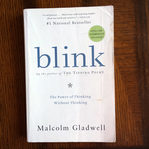 Blink Malcolm Gladwell book