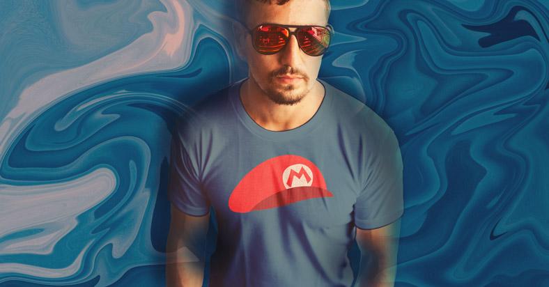 mario hat shirt design